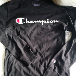 Champion Black Long Sleeve Shirt